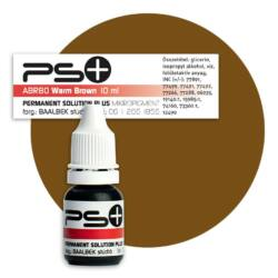 Permanent Solution Plus - WARM BROWN 10 ml