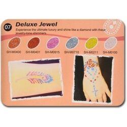 Art Glitter tartós csillámtetoválás szett - Deluxe Jewel színkollekció (6 színes)
