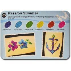 Art Glitter tartós csillámtetoválás szett - Passion Summer színkollekció (6 színes)