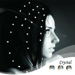 """Baalbek  hajbavasalható hajékszer  """"crystal"""" színben"""
