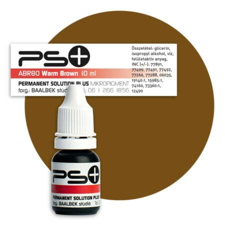 Permanent Solution Plus - WARM BROWN 10 ml