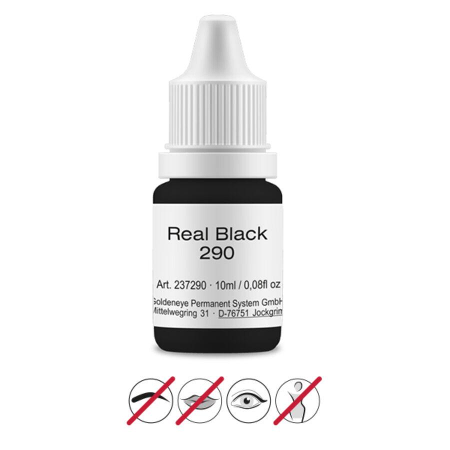 Goldeneye sminktetováló pigment - Real Black 10 ml