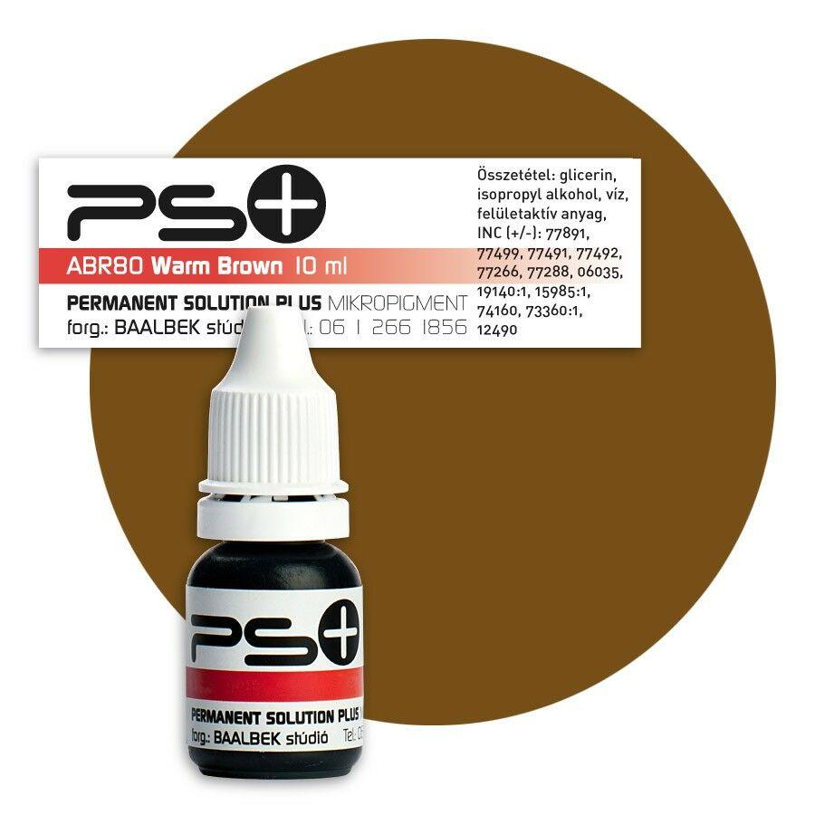 ÚJ! Permanent Solution Plus - WARM BROWN 10 ml