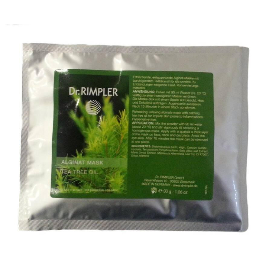 Dr. Rimpler PROFESSIONAL Tea tree oil alginat mask - Teafaolajos algamaszk 30g