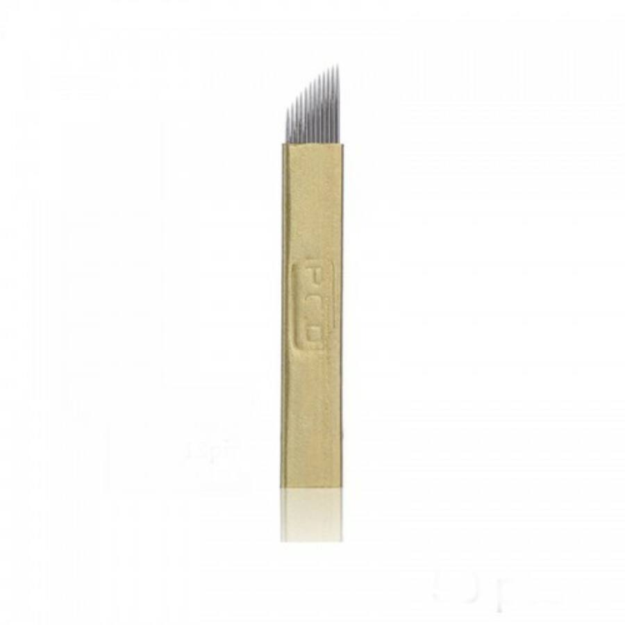 Microblading tű 12-es curve arany színű (1 db)