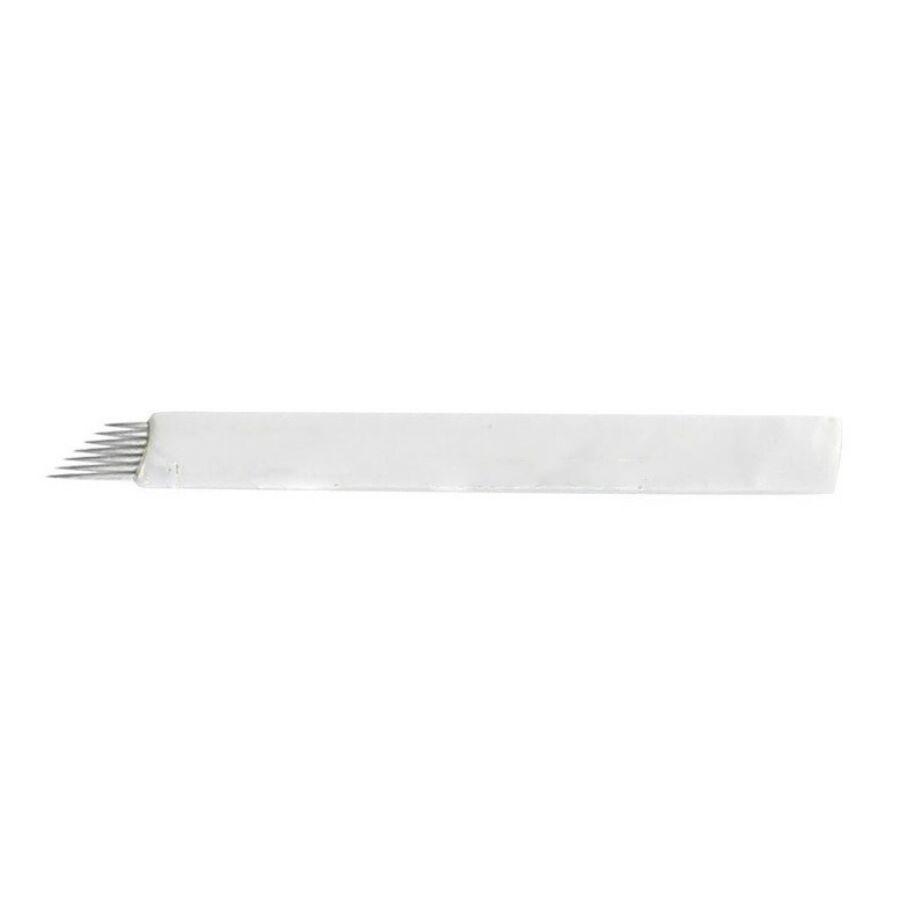 Microblading tű 7-es curve fehér színű (1 db)