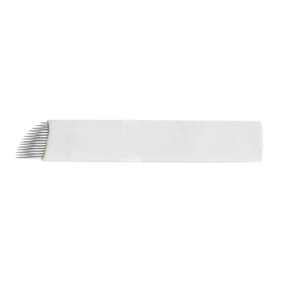 Microblading tű 14-es curve fehér színű (1 db)