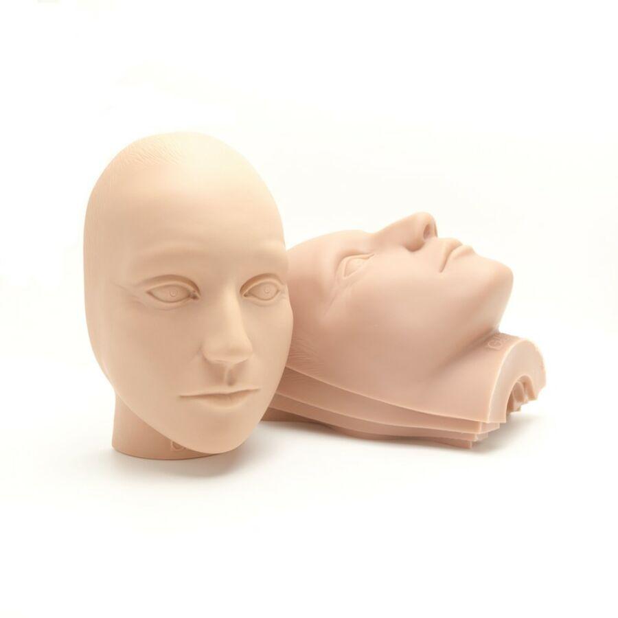 Gyakorló műanyag fej (1 fix + 5 maszk)