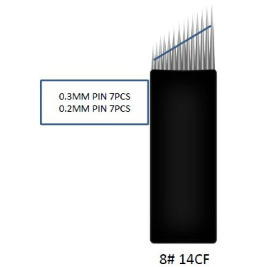 Prémium minőségű super black mix microblading tű 14-es curve