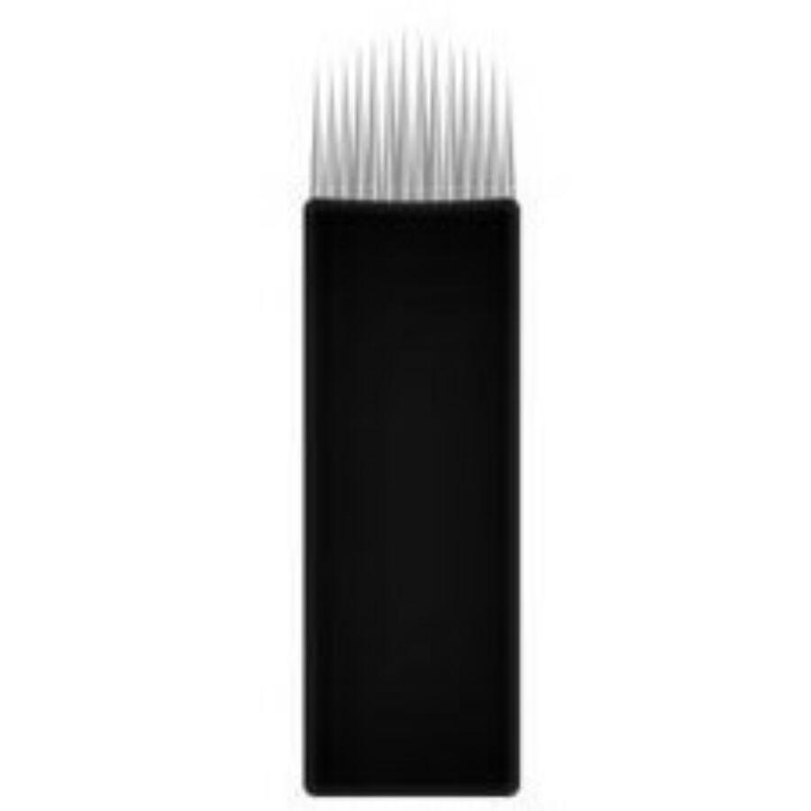 Prémium minőségű super black microblading tű 14-es U alakú penge