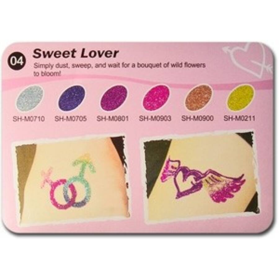 Art Glitter tartós csillámtetoválás szett - Sweet Lower színkollekció