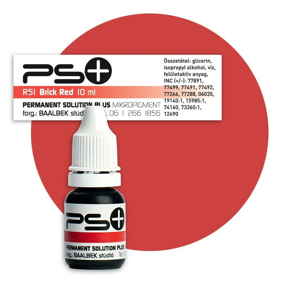 Permanent Solution Plus - BRICK RED 10 ml